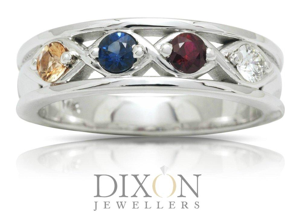 Custom Made Four Stone Family Ring