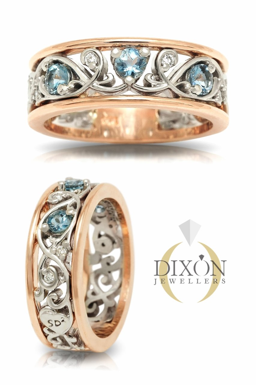 Custom Aquamarine Engagement Ring