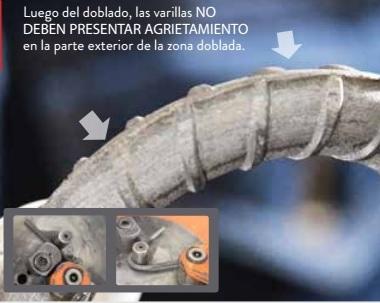 Agrietamiento en varillas. Imagen del catálogo de productos de Adelca