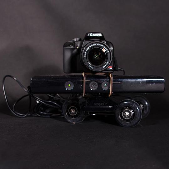 Kinect and camera setup