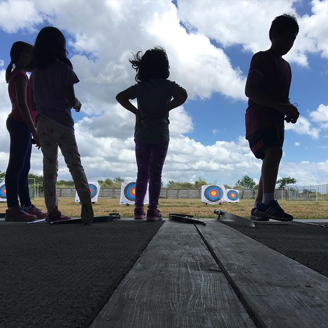 What a beautiful day it is out at the #archery range ☀️🏹🎯 #fridaysareforarchery #nofilter #module2 #bullseye #aimsmallmisssmall #nuvali #laguna #raiseyourgame #youthsports