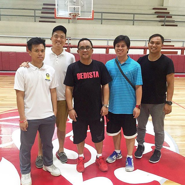 🏀🏀🏀Coaches Emman, Neil, Chris and Raymond learning from one of the best basketball programs in all the land. 🦁#SanBeda #ncaa #bedista #earlymornings #ilovefieldtrips #riseandgrindsquad #basketballneverstops #learningneverstops #ilovethisgame #raiseyourgame