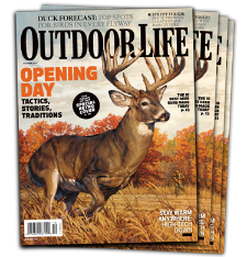 Running and Gunning on the October, 2014 cover of  Outdoor Life  Magazine