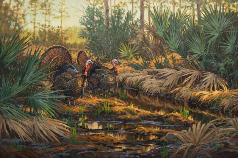 ryan-kirby-original-osceola-wild-turkey-painting-swamp-patrol