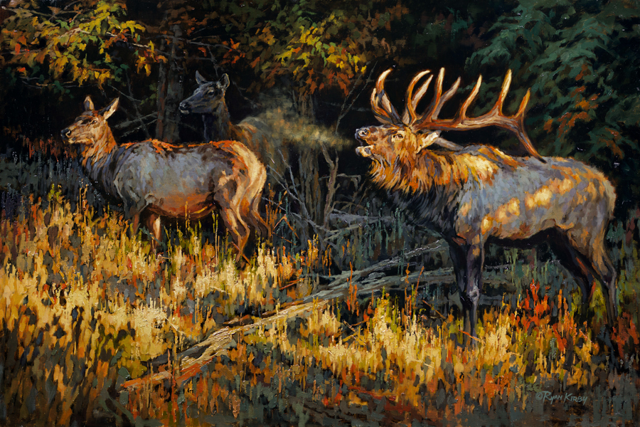ryan_kirby_original_north_carolina_elk_painting_cherokee_pride