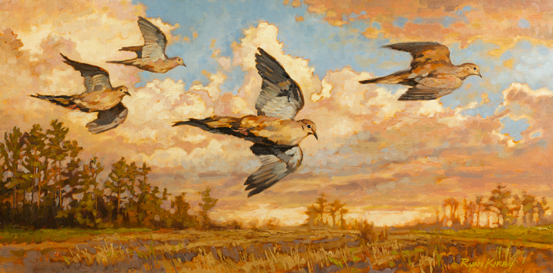 ryan_kirby_original_dove_painting_mourning_flight