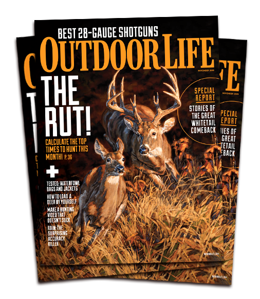 Running and Gunning on the November 2015 cover of  Outdoor Life  Magazine
