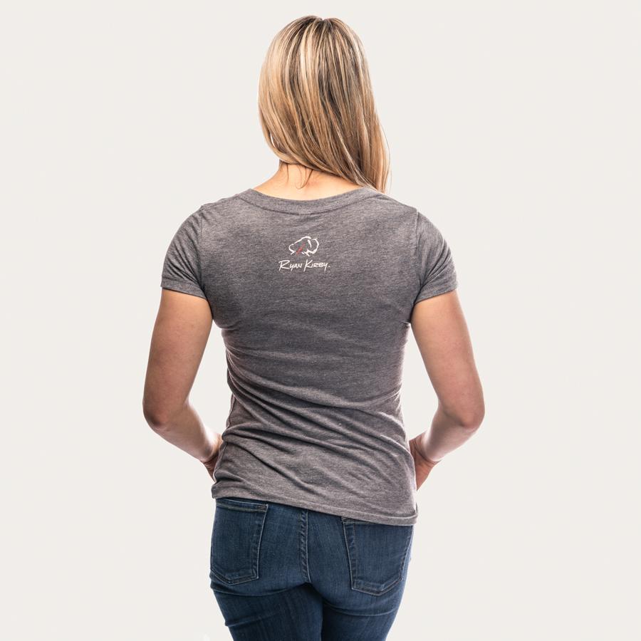 3df3183a Ryan Kirby Art — Ryan Kirby Logo Women's V-Neck T-Shirt [Grey]