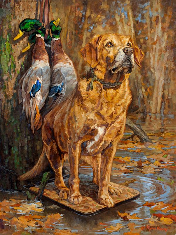 Ryan-Kirby-Labrador-Retriever-Mallard-Painting-Diesel-18x24.jpg