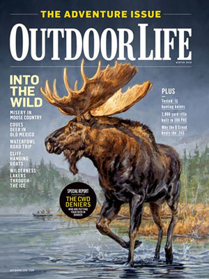 """Yukon Gold"" on the Adventure Issue cover of  Outdoor Life  Magazine"