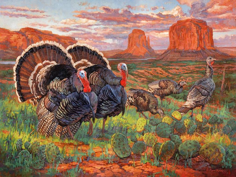 original-oil-painting-wild-turkey-red-rock-rendezvous-ryan-kirby .jpg