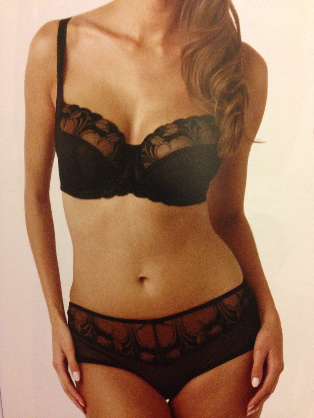 Dahlia Balconnet Bra in Black, 30-38 D-J, and Brief, 8-20
