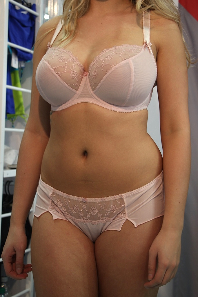 Florence Balcony Bra in Blush, 30-40 D-J and Short, 8-22