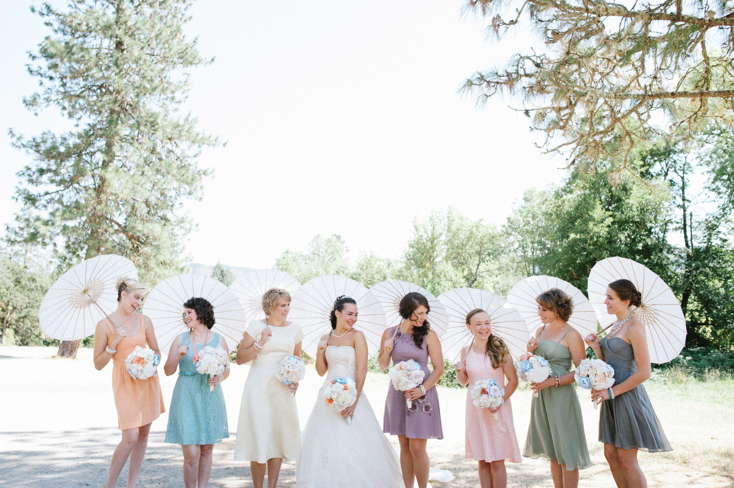 parasols Medford wedding bridesmaids