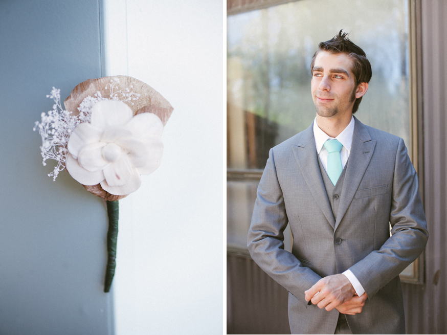 Groom Detail shot Pacifica Gardens Medford