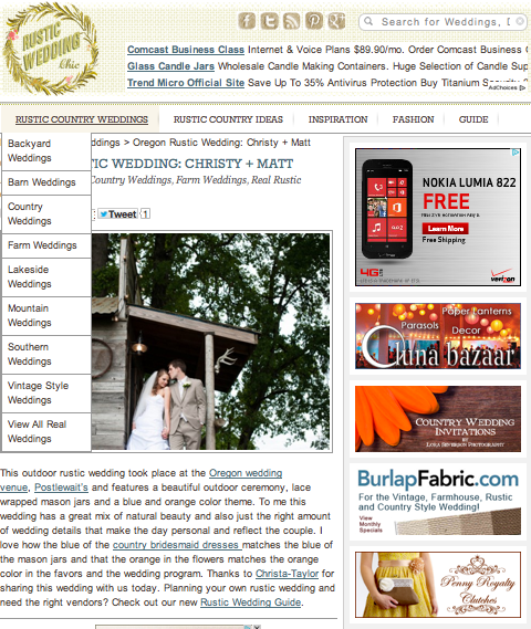 Oregon Postlewait farms wedding published