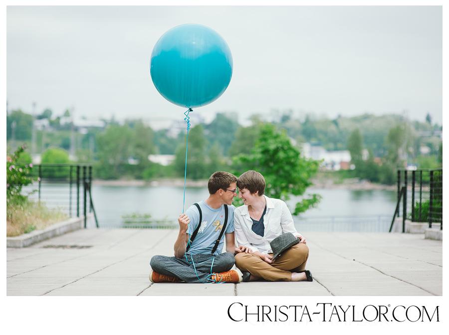Portland Waterfront Engagement, Christa-Taylor photo