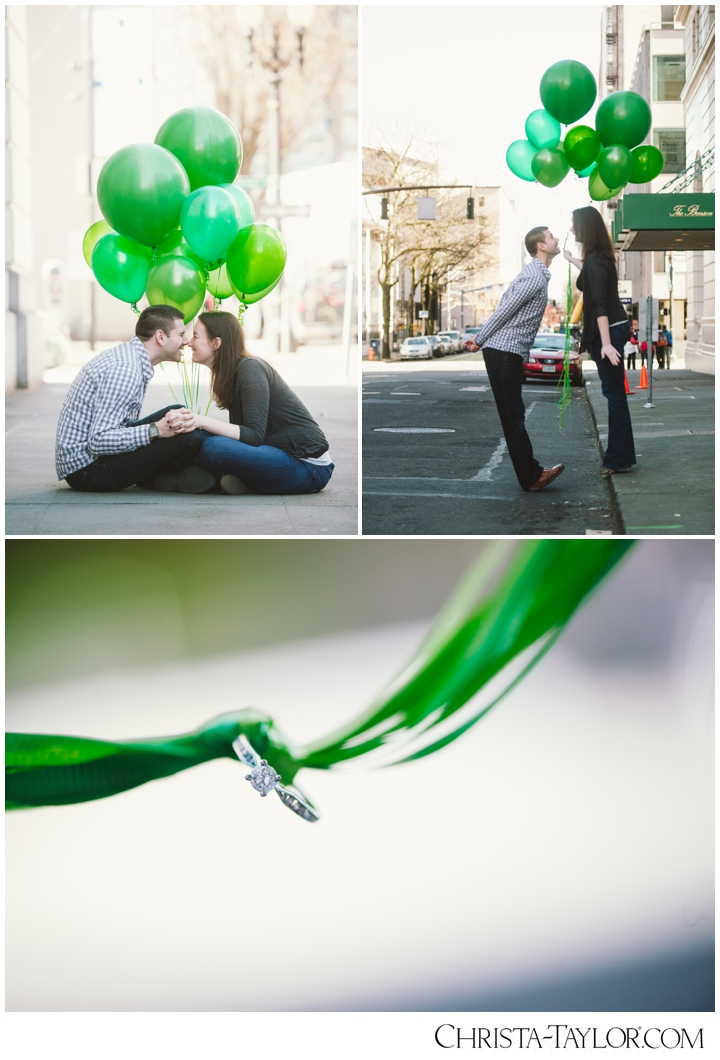 Green Balloons Engagement