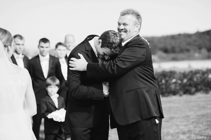 Zenith Vineyard Wedding, Candid of groom and his Father-in-law.