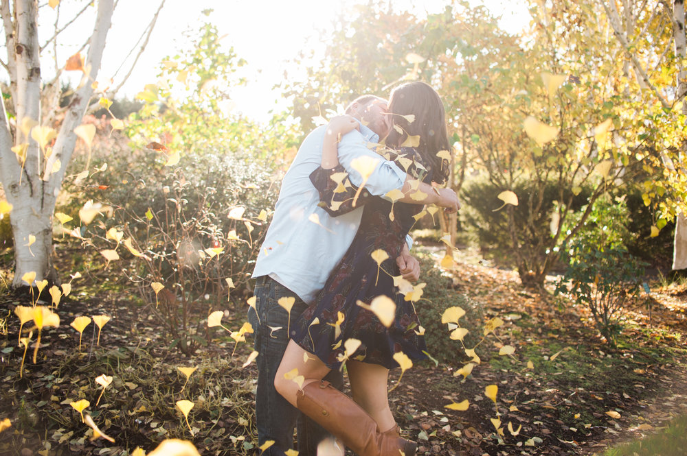 Oregon Gardens Engagement Session by Portland wedding photographer Christa-Taylor
