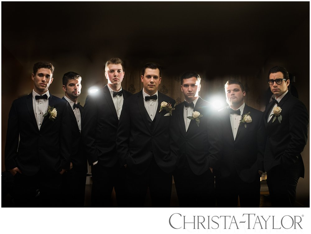 Groomsmen at Green  Villa Wedding photos by portland wedding photographer Christa Taylor