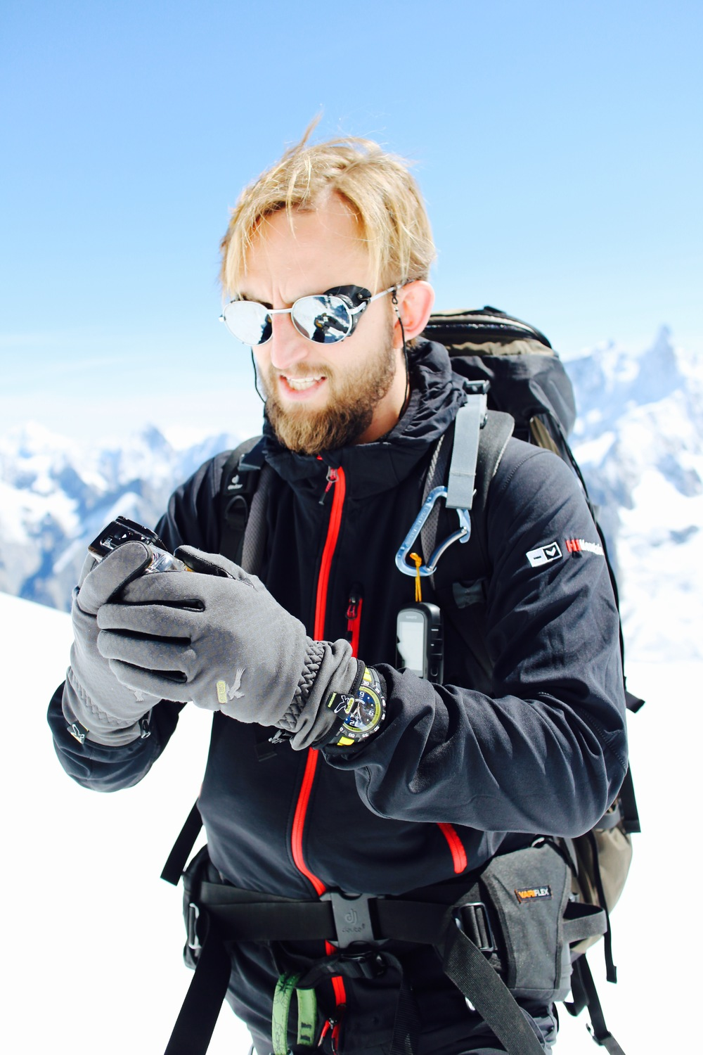 Massif du Mont-Blanc - French Alps/Beard: the sine qua non for the backcountry man.