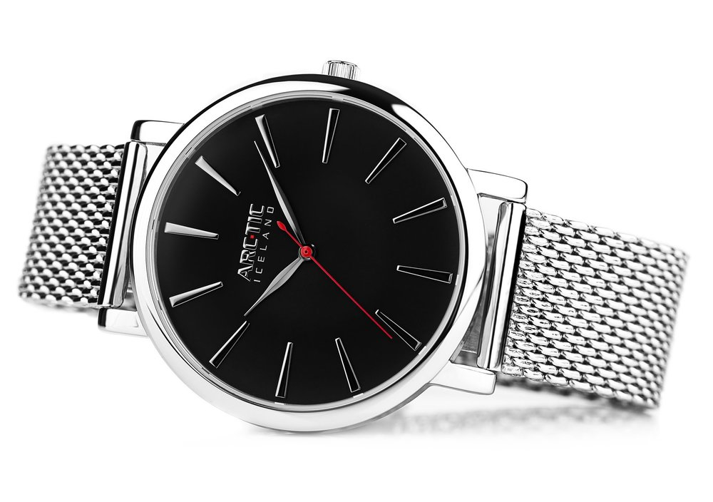 ARC-TIC Iceland Retro black 42mm with Steel band -   Learn More