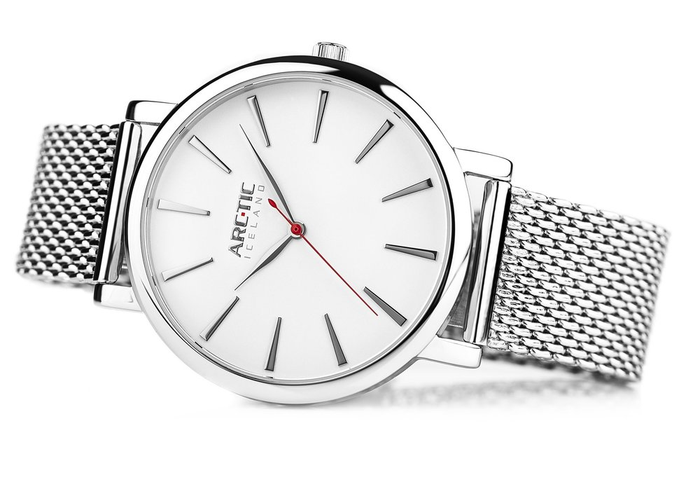 ARC-TIC Iceland Retro white 42mm with Steel band -  Learn More