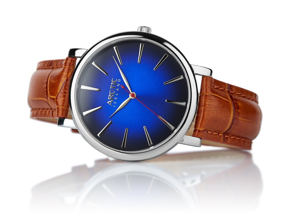 ARC-TIC Iceland Retro Blue 42mm   or 36mm with brown leather strap -   Learn More