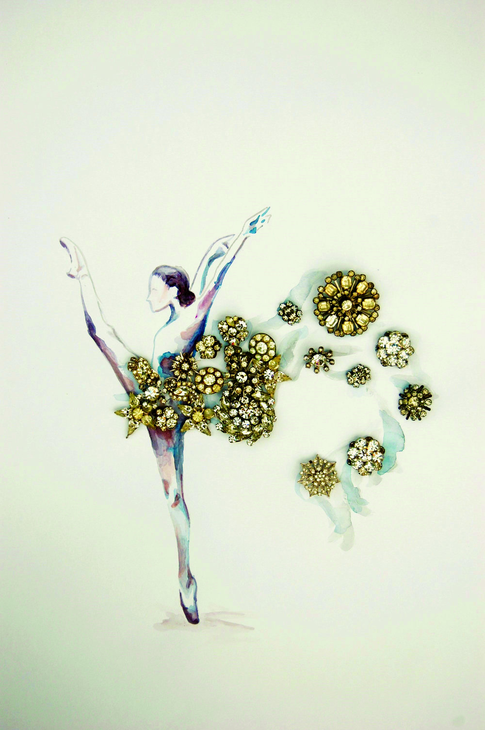 One creation in the Ballet Des Moines artist-in-residence series by artist Christine Hilbert