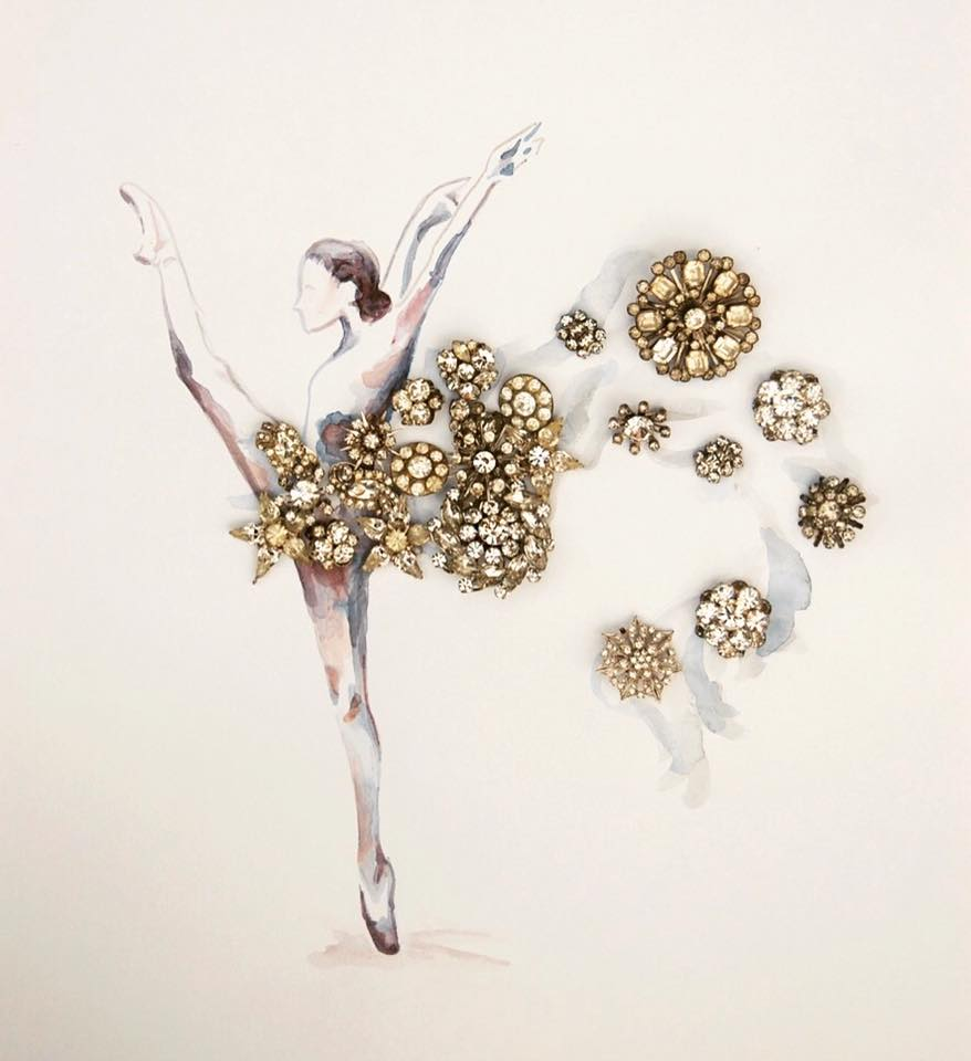 An image from the body of work Heirloom Anthology at the Ballet, created by Christine Hilbert, the Winter 2016 Artist-in-Residence.