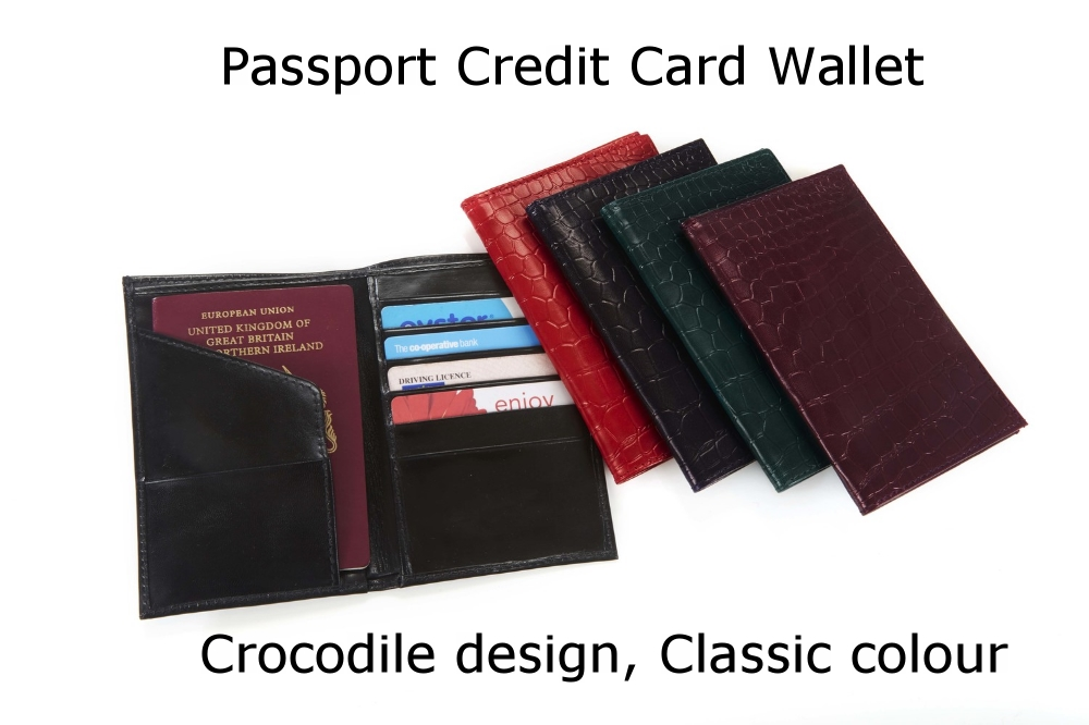 Passport Credit Card Wallet Crocodile Classic.jpg