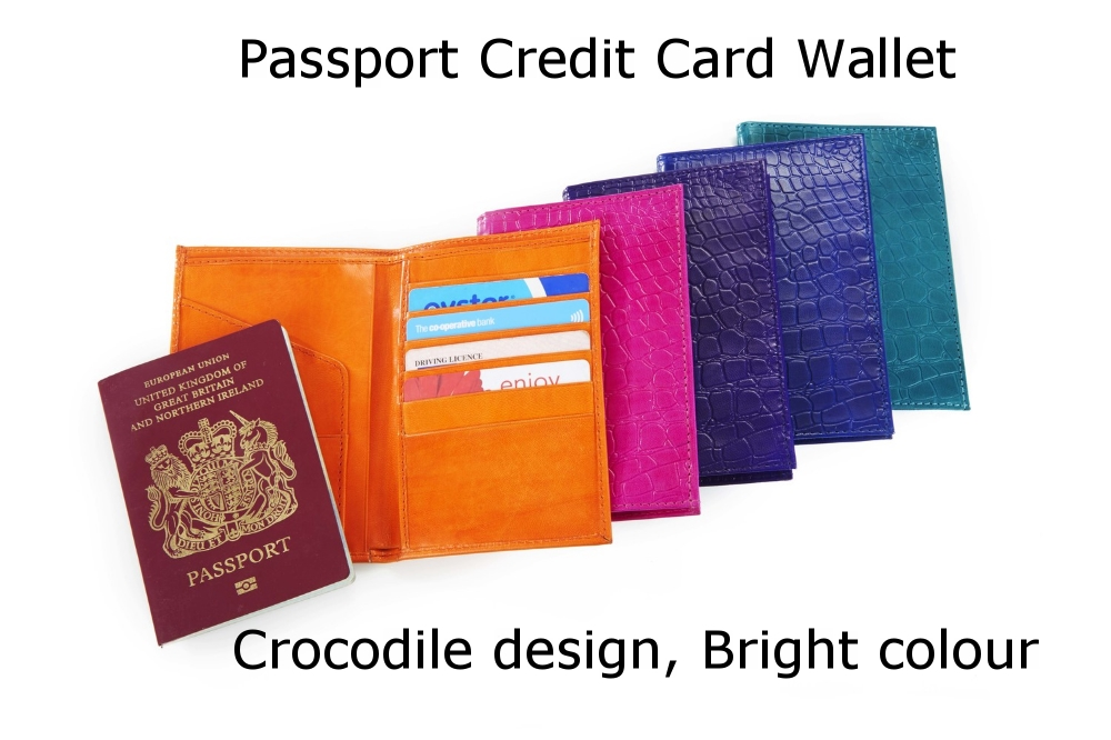 Passport Credit Card Wallet Crocodile Bright.jpg