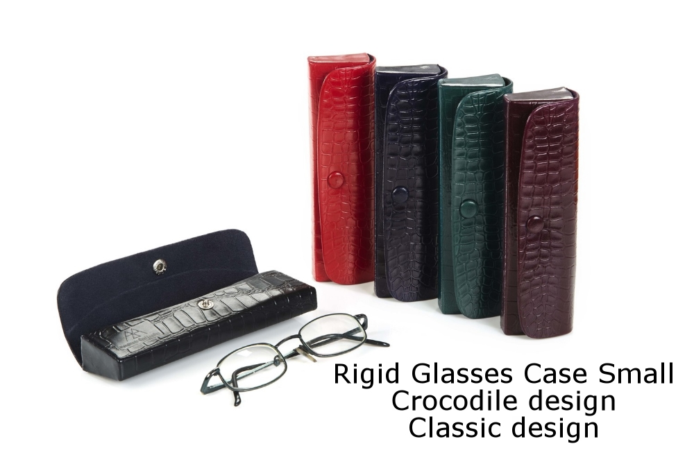 Rigid Glasses Case Small Crocodile Classic.jpg
