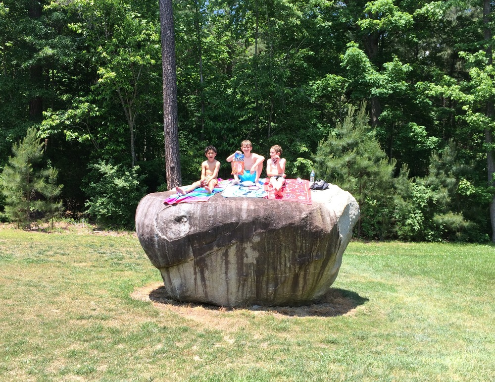 Kids love our big rocks!
