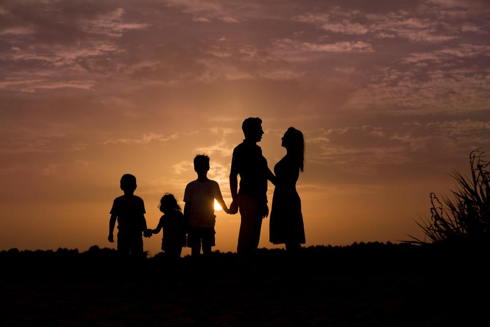 seneca, sc family portrait silhouette