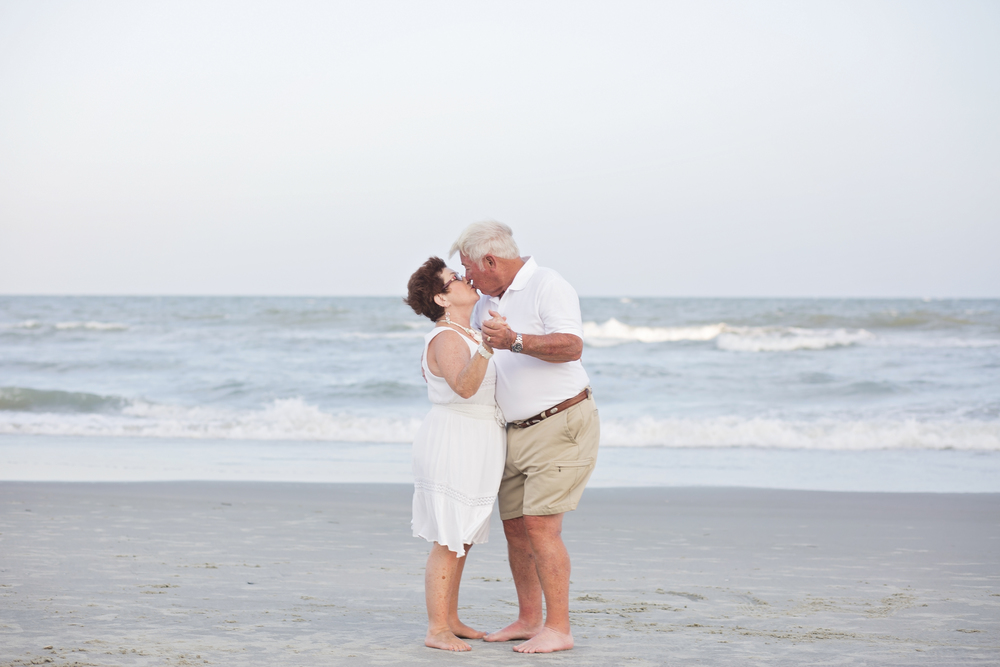 older couple dancing on the beach north myrtle beach sc