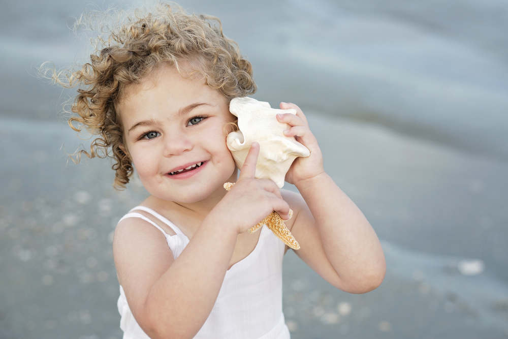 adorable girl with shells myrtle beach sc