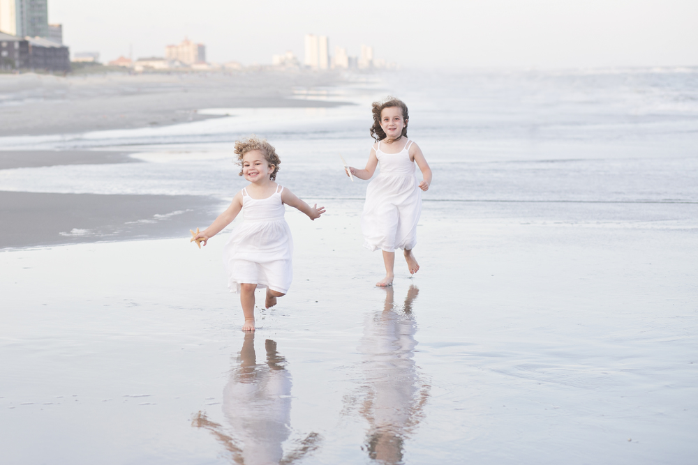 family beach portrait session north myrtle beach sc
