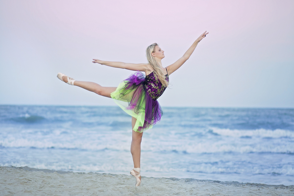 myrtle beach ballet portraits beach dancer