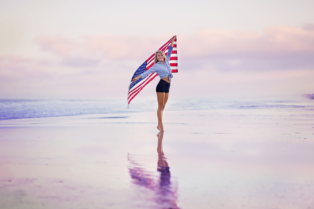 south carolina beach senior photographer american girl