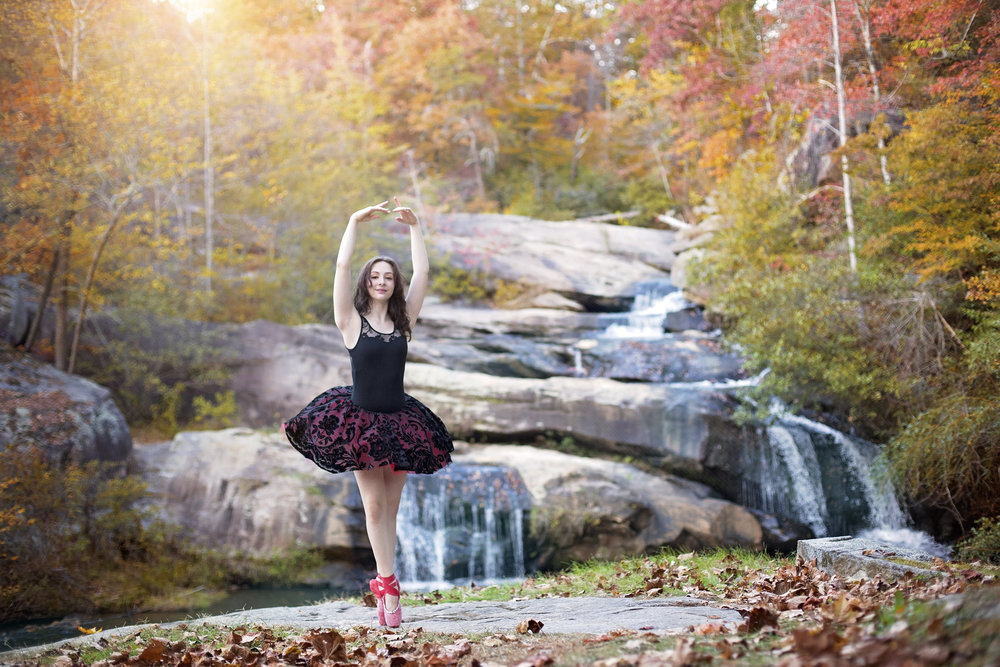 senior portraits ballet pickens sc photography