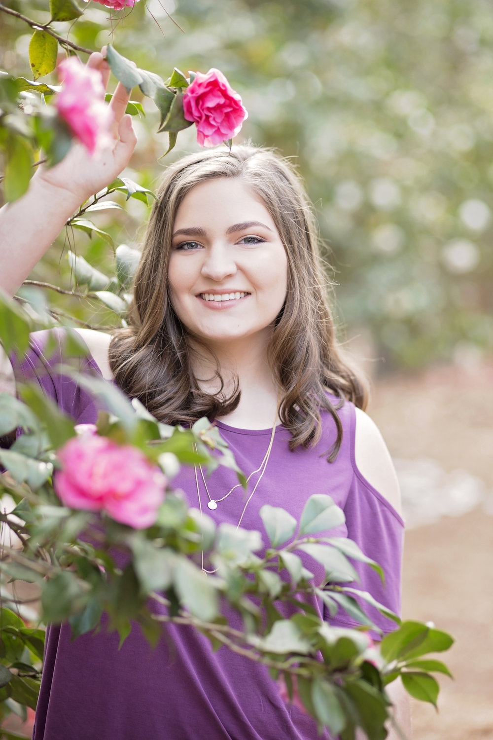 seneca high school senior portraits south carolina botanical gardens clemson, sc