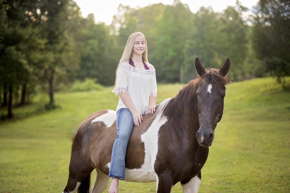 pickens sc senior portraits  senior photographer pickens sc  horse senior portraits