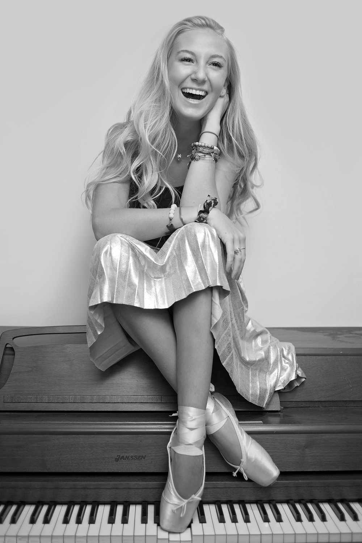 pickens senior portrait piano dancer