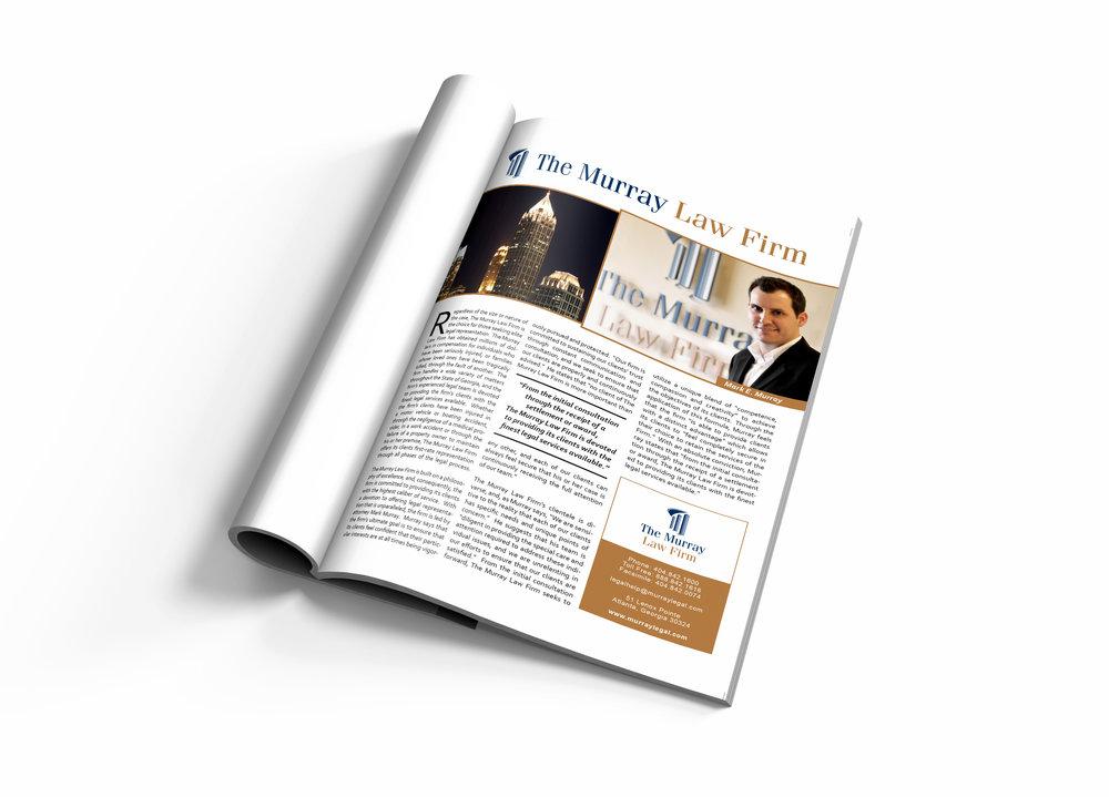 Law Firm Magazine Advertisement