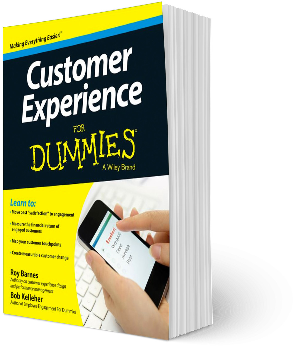 Roy Barnes co-authored Wiley's  Customer Experience for Dummies , pub. November, 2014