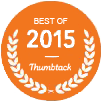 Best of 2015 Thumbtack award