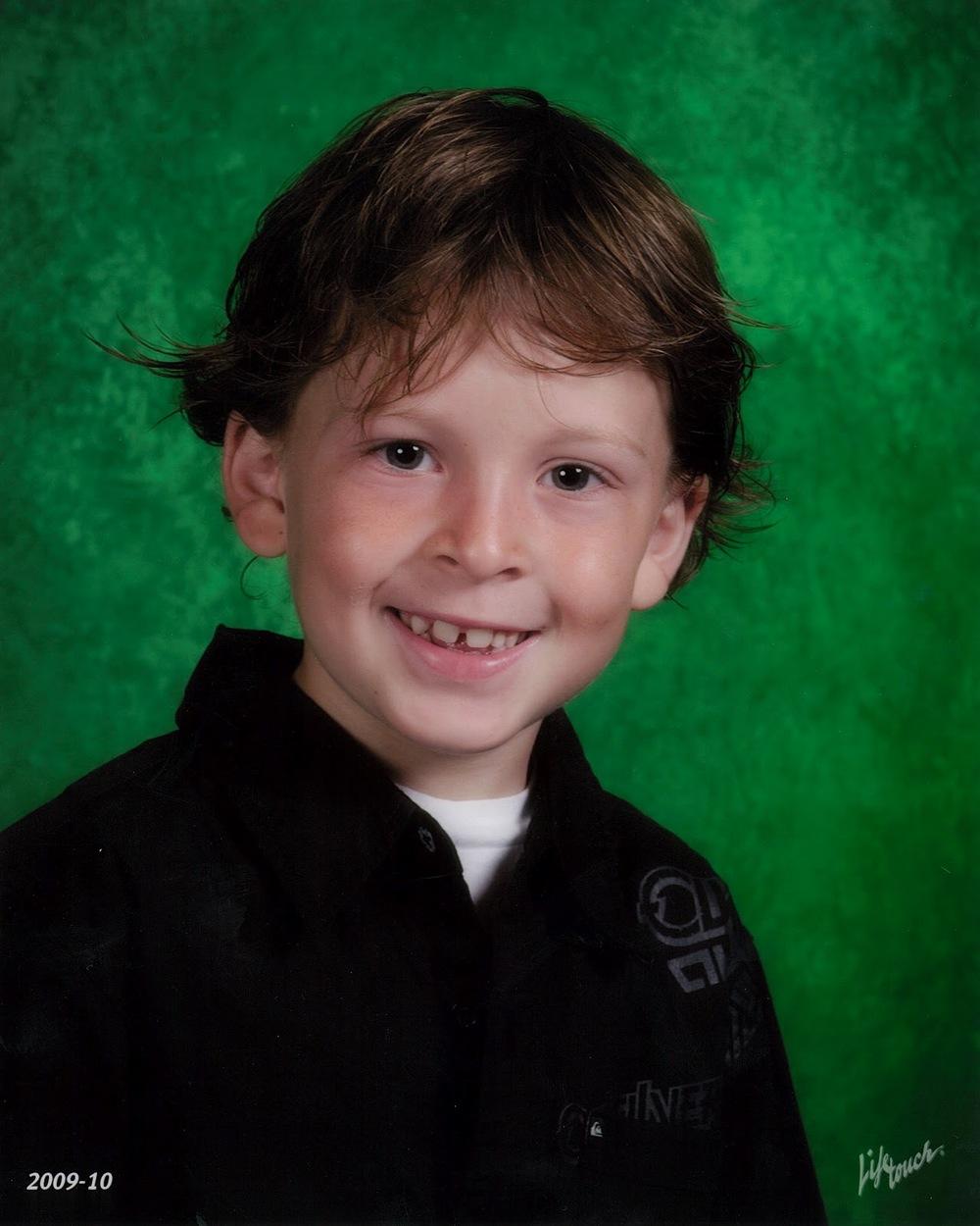 "Andrew ""AJ"" Brumback, Age 8, Westminster, CA"