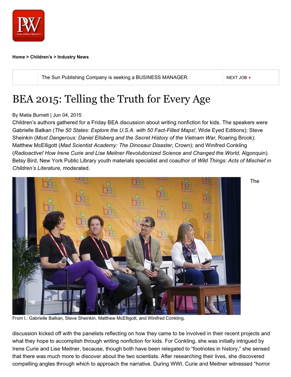 BEA 2015_ Telling the Truth for Every Age.jpg